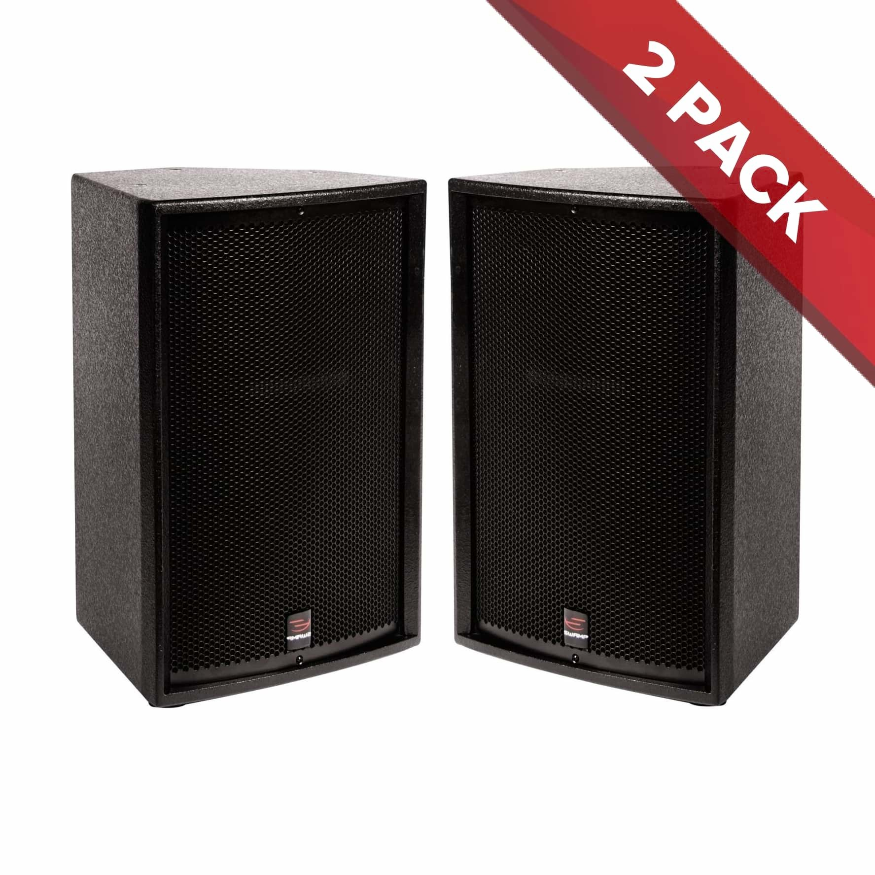 "2x SWAMP BT-12 - 2-way Passive 12"" PA Speaker - 300W RMS"