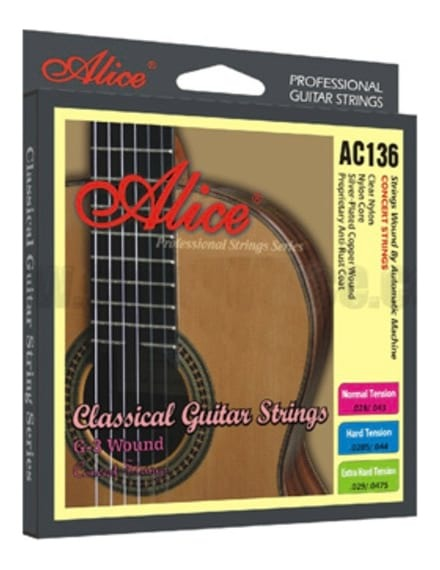 Alice AC136-H Classical Guitar Strings - Hard Tension 29-44