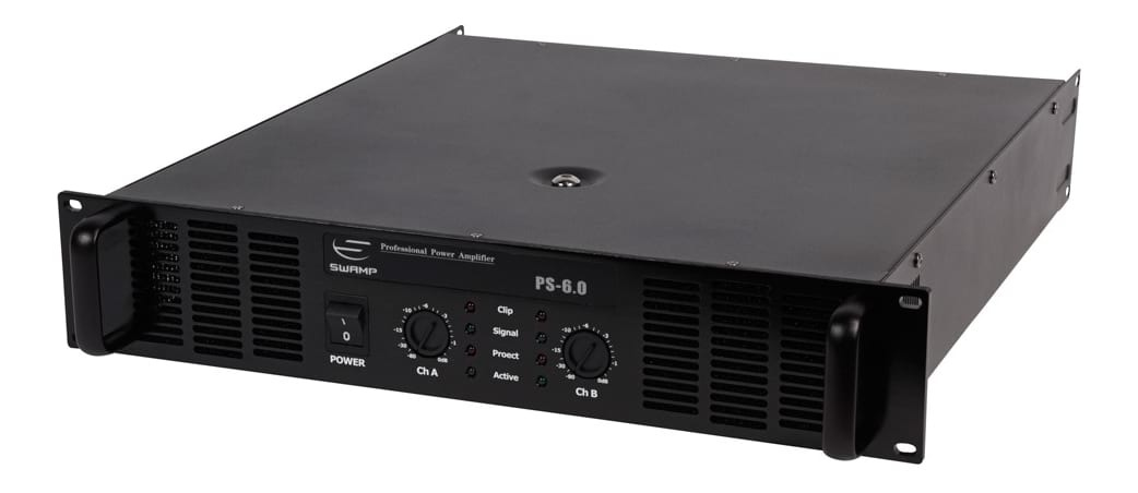 SWAMP PS-6.0 Power Amplifier - Dual Channel - 2x 600W at 8Ohm