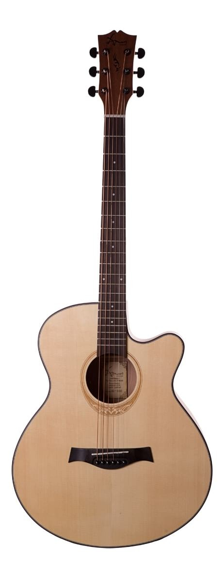 AM-408-NA Spruce-Sapele Single Cutaway Steel String Acoustic Guitar - Natural