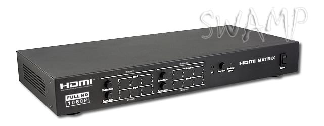 LKV344 3D 4x4 HDMI Matrix Switch w/ Remote Control and RS232