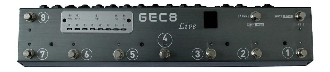 MOEN GEC8 Live - Guitar Pedal Switching System - Midi Control