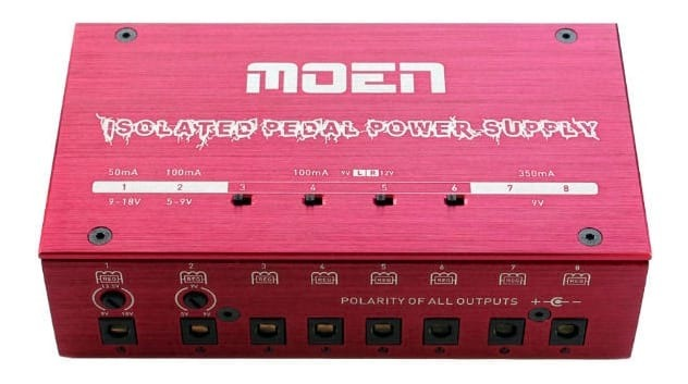 MOEN MISO8 Isolated Power Supply Station for Guitar Effect Pedals - RED