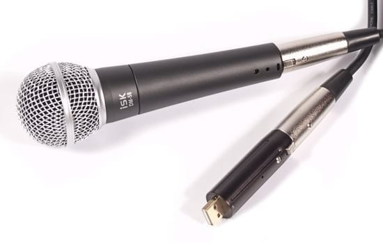 iSK DM-58 Vocal Mic w/ XLR to USB Adapter