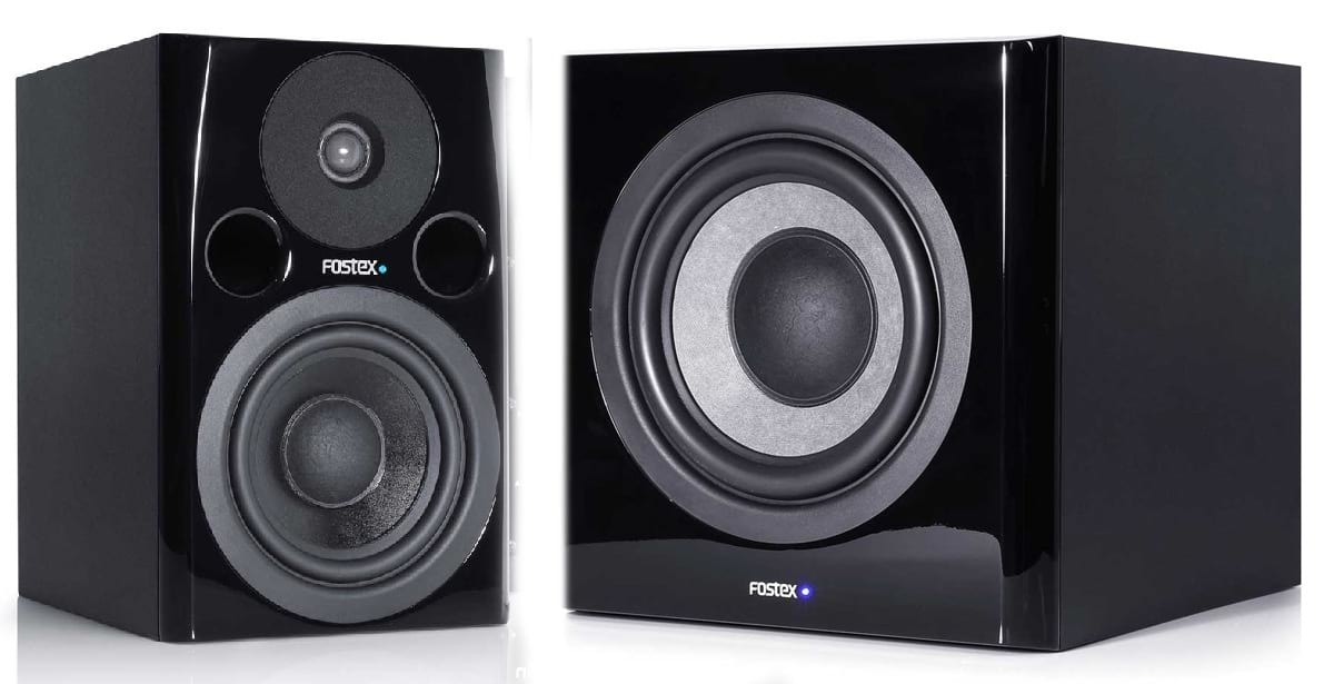 FOSTEX Studio Monitor Speaker Package - 2x PM0.5d and 1x PM Sub
