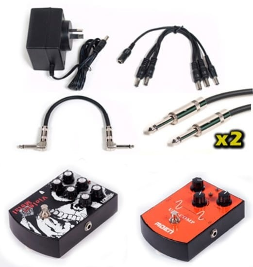 Effects Pedal Pack - Heavy Metal + Compressor + 9v + Cables