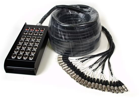 Multicore Cable w/ Stage Box - 24 Channels - 30m