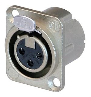 Neutrik NC3FD-LX Female XLR Panel Mount Connector