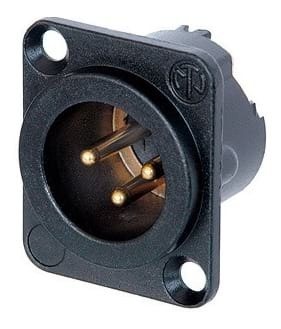 Neutrik NC3MD-LX-B Male XLR Panel Mount Connector