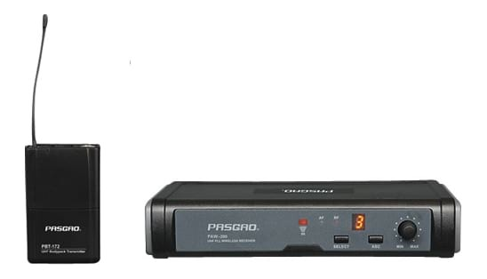 PASGAO PAW-260 Wireless Microphone System - 1 Bodypack and Lapel Mic