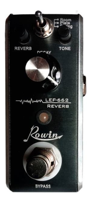 Rowin LEF662 - Mini Guitar Reverb Effect Pedal - 3-in-1