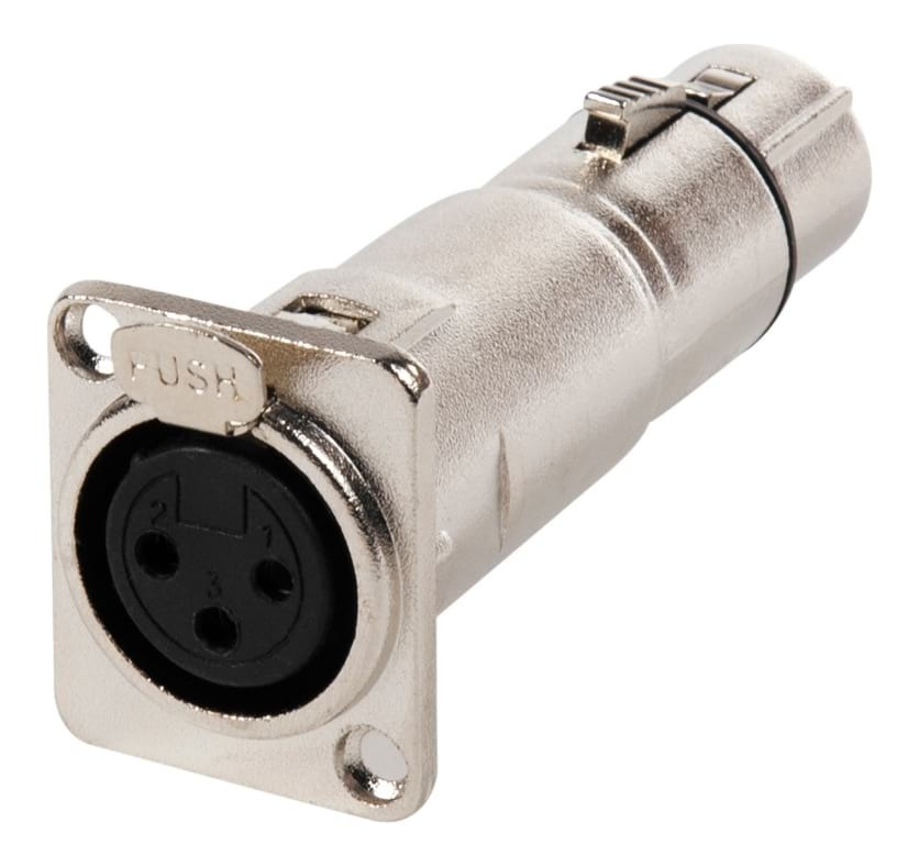 SWAMP XLR(f) to XLR(f) Feed Through Connector - Panel Mount Adapter