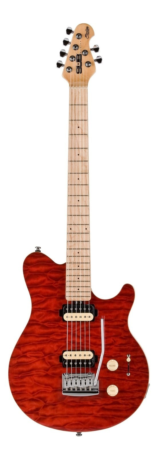Sterling S.U.B. Series AX3 TR Electric Guitar - Red