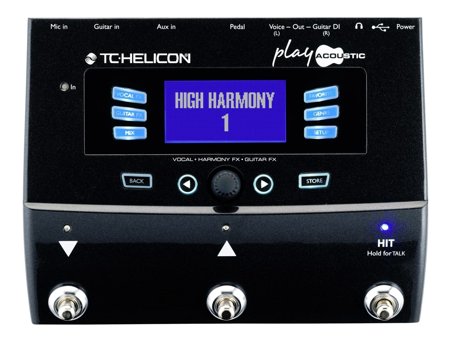 TC-Helicon VoiceLive Play Acoustic Vocal and Guitar Effects Pedal