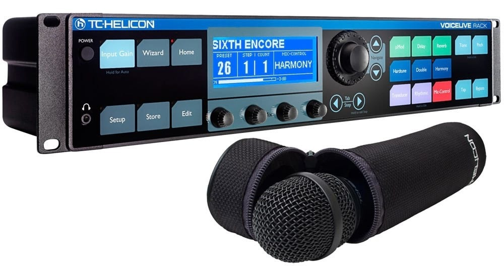 "TC-Helicon VoiceLive Rack 19"" Vocal Effects Rack w/ MP75 Dynamic Microphone"