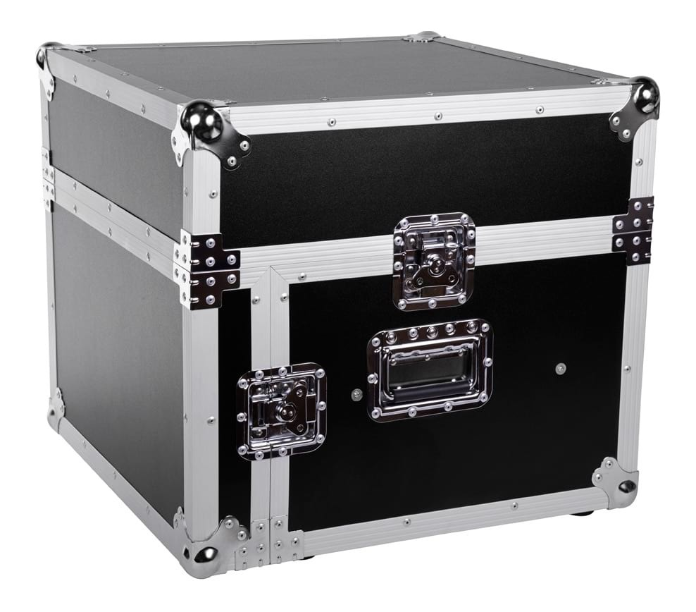 SWAMP Wooden 19 inch Rack 4U DJ Road Case with Top Mixer Space