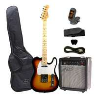 Guitar and Amp Package - 'TC Style' Sunburst Electric Guitar
