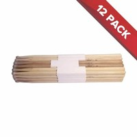 Oak Drum Sticks - 12 Pairs - Nylon Tips - 7A
