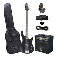 Artist Right Hand Bass Guitar and 20W Amp Package - Black P-Bass