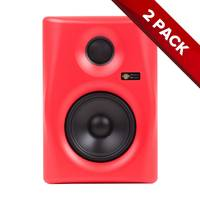 "Pair of Monkey Banana Gibbon Series Active 5"" Studio Monitors - Red"
