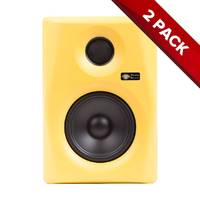 "Pair of Monkey Banana Gibbon Series Active 5"" Studio Monitors - Yellow"