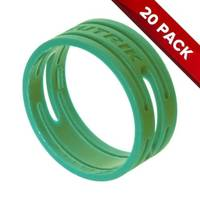 20x Neutrik XXR-5 XLR Connector - Green Coding Rings