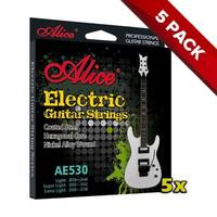 5x Alice Electric Guitar Strings 9-42 - 5 Sets