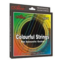 Alice Multi-Coloured Acoustic Guitar Strings 11-52