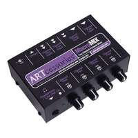 ART MacroMix - 4 Channel Line Level Audio Mixer - Stereo and Headphone Out