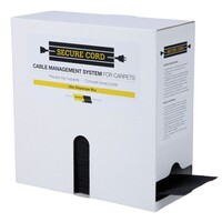 Low Profile Cable Management System for Carpets - Black - 25m Roll