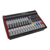 SWAMP 10 Channel Powered Mixing Desk - 2x 300W - 8 Mic Preamps - Graphic EQ