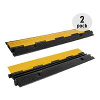 2 Pack - Cable Tray - Cable Cover - 2 Channel - 1m