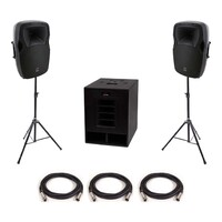 "SWAMP Small Powered PA - 15"" Subwoofer + 2x 12"" FOH Speakers"
