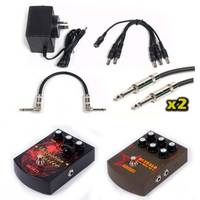 Effects Pedal Pack - Distortion + Parametric EQ + 9v + Cables