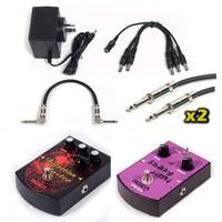 Effects Pedal Pack - Distortion + Vibrato + 9v + Cables