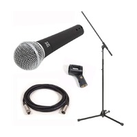 PACKAGE DEAL - Vocalist Microphone + Mic Stand + Cable