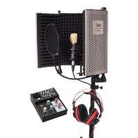 Home Studio Vocal Recording Package - RF-5 + BM-700 Condenser + USB Interface
