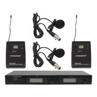 PASGAO PAW-842 2 Channel Wireless Microphone System - 2 Lapel Mics