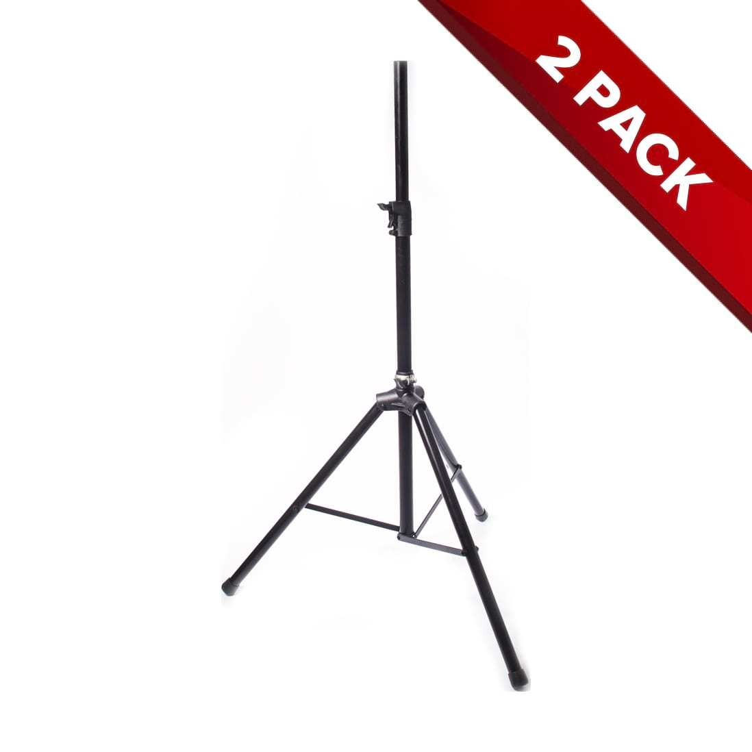 2x Heavy Duty Steel PA / DJ Speaker Stand - Auto-Locking - Air Cushion