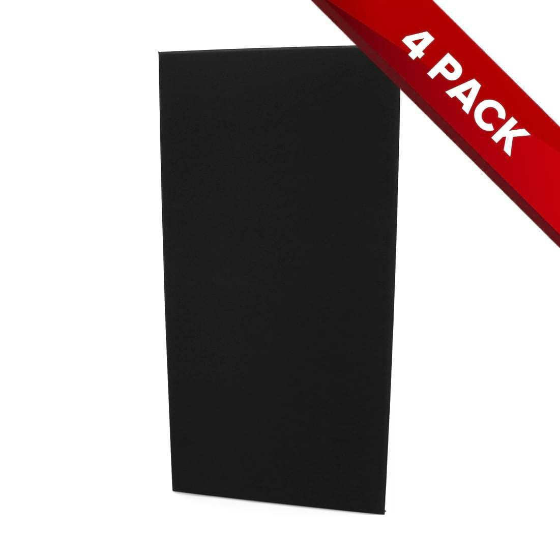 4x Fibreglass Acoustic Treatment Panel - Black Colour - 120cm x 60cm