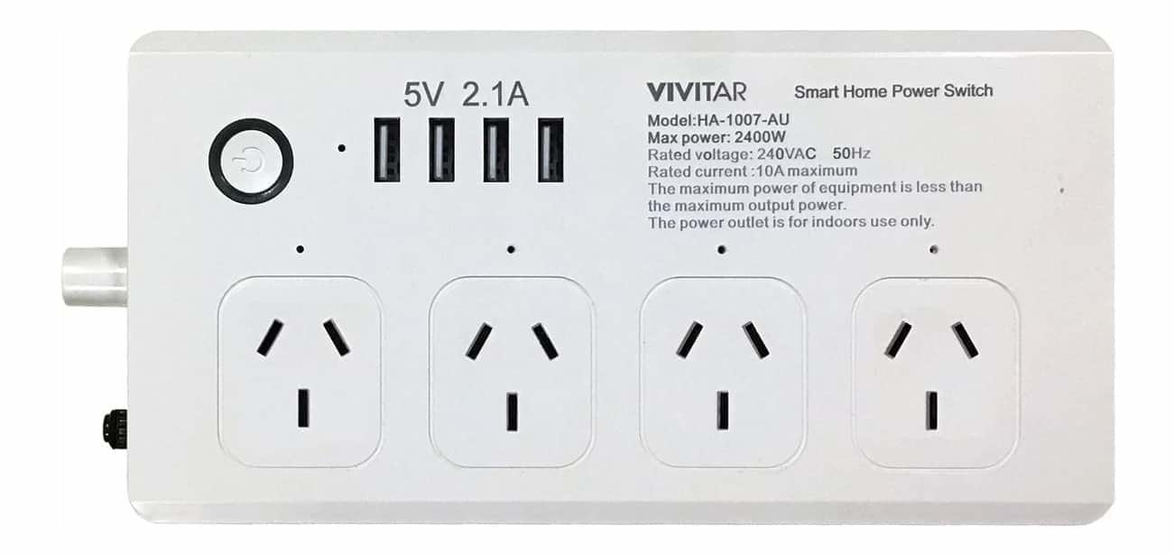 Vivitar HA-1007 Wifi Enabled Power Strip and USB Charger