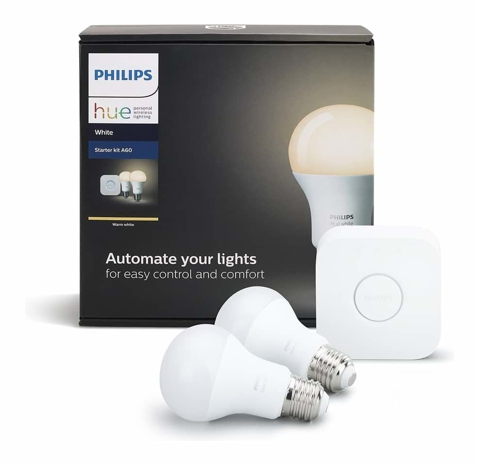 Philips HUE Starter Kit Dimmable Light with HUE Bridge E27 Bulbs