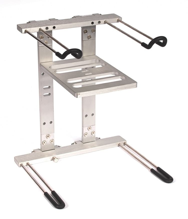 Deluxe Heavy Duty DJ Laptop Stand with Interface Tray - Dual Tier
