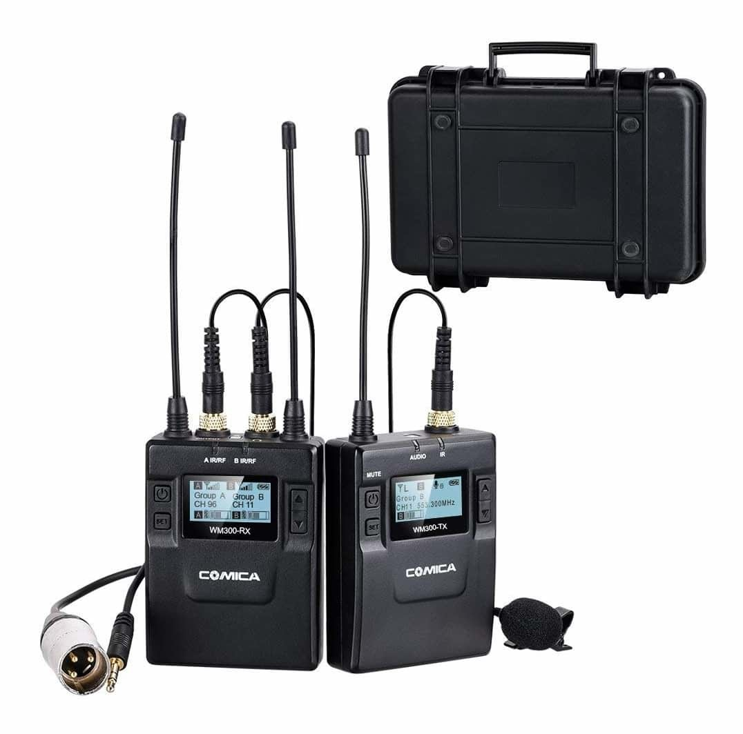 COMICA CVM-WM300 Portable Wireless Microphone System - Lavalier Mic