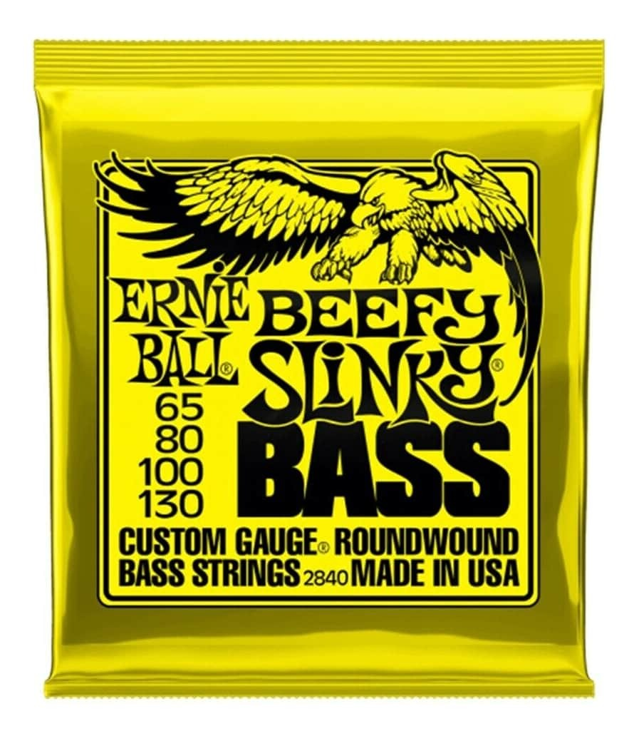 Ernie Ball 2840 Beefy Slinky Bass Guitar Strings 65-130