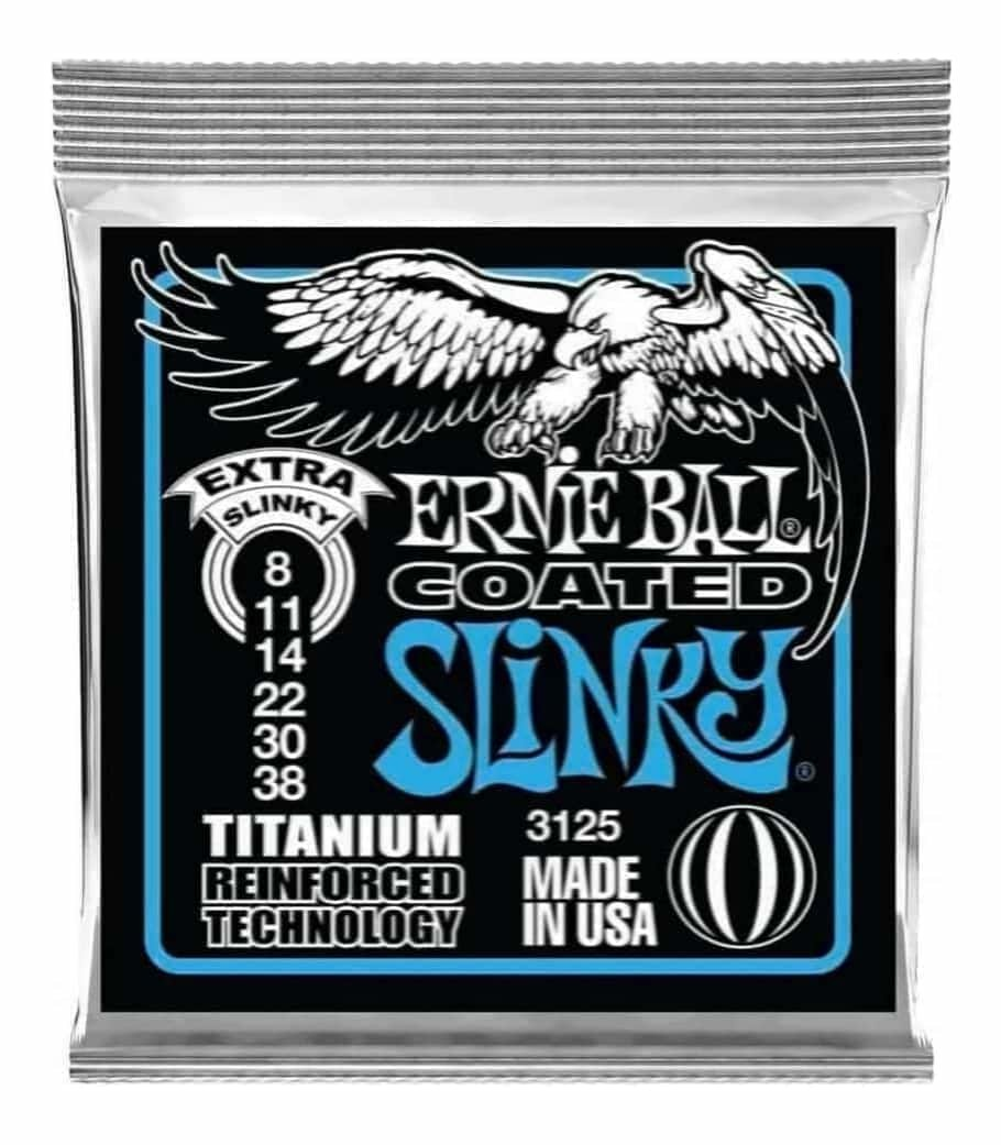 Ernie Ball 3125 Extra Slinky RPS Coated Titanium Electric Guitar Strings