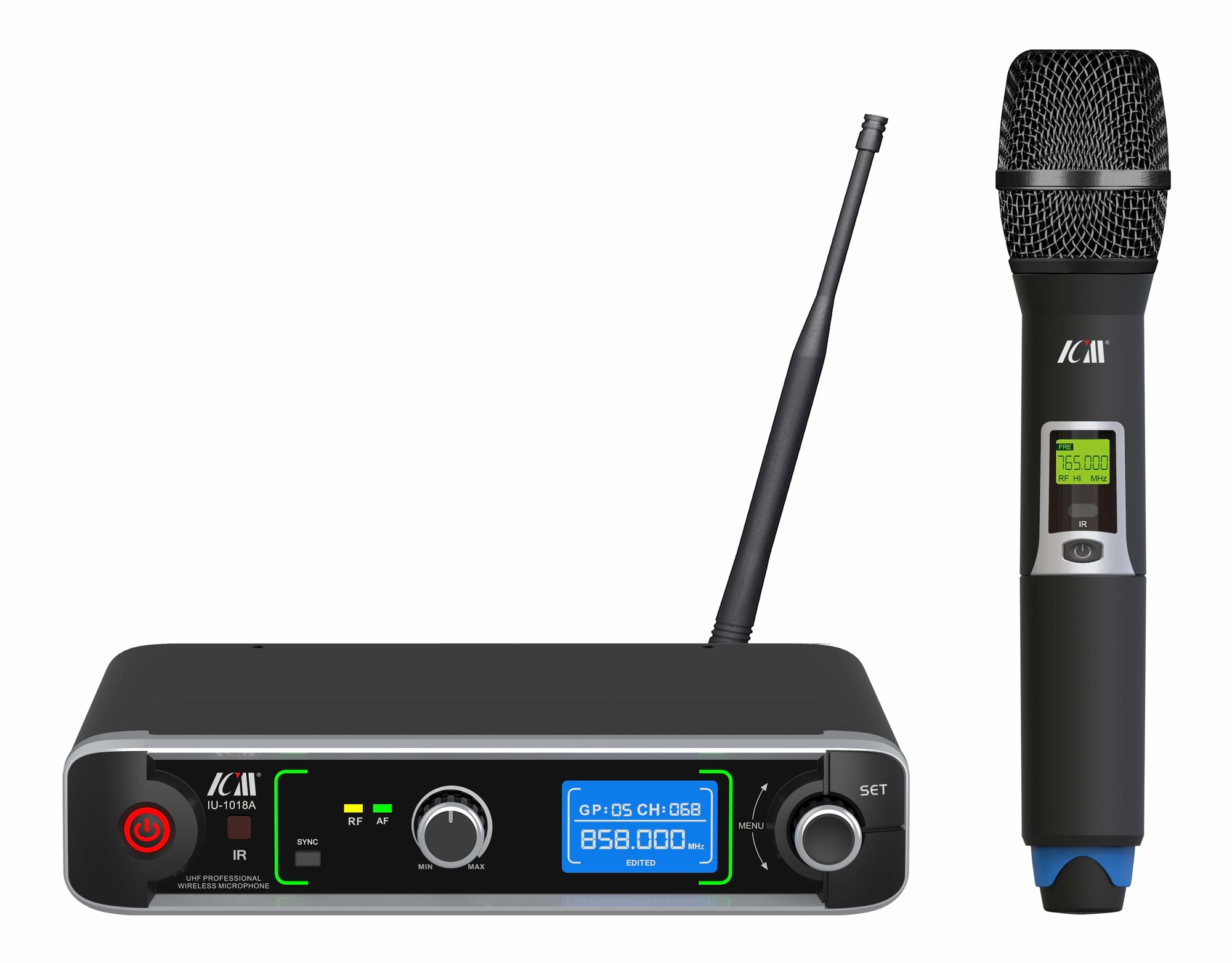 ICM IU-1018A Single Channel Wireless Microphone System - 1 Handheld Mic