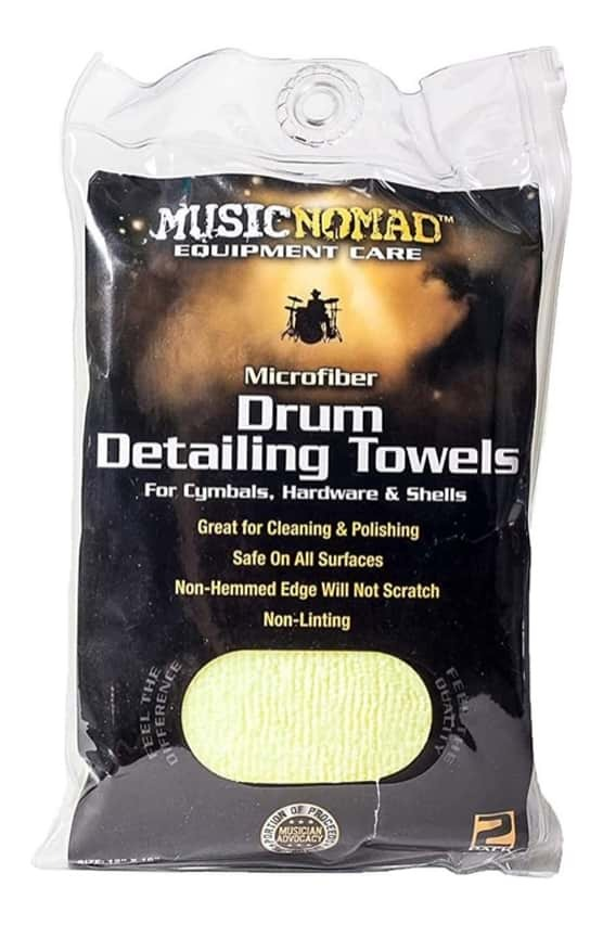 Music Nomad MN210 Microfiber Drum Detailing Towels - Twin Pack