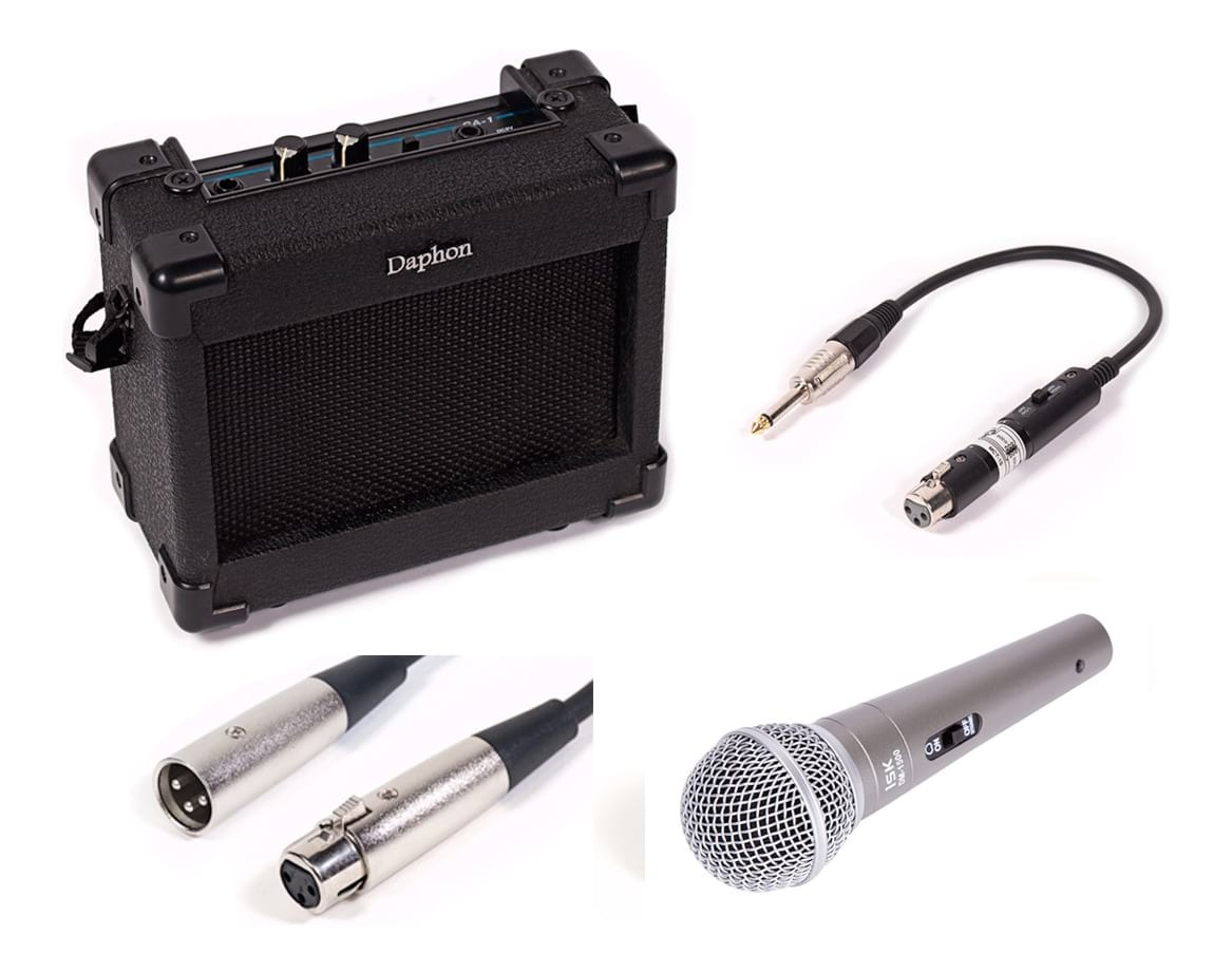 Kids Portable Microphone Package - 5W Battery Powered Amp