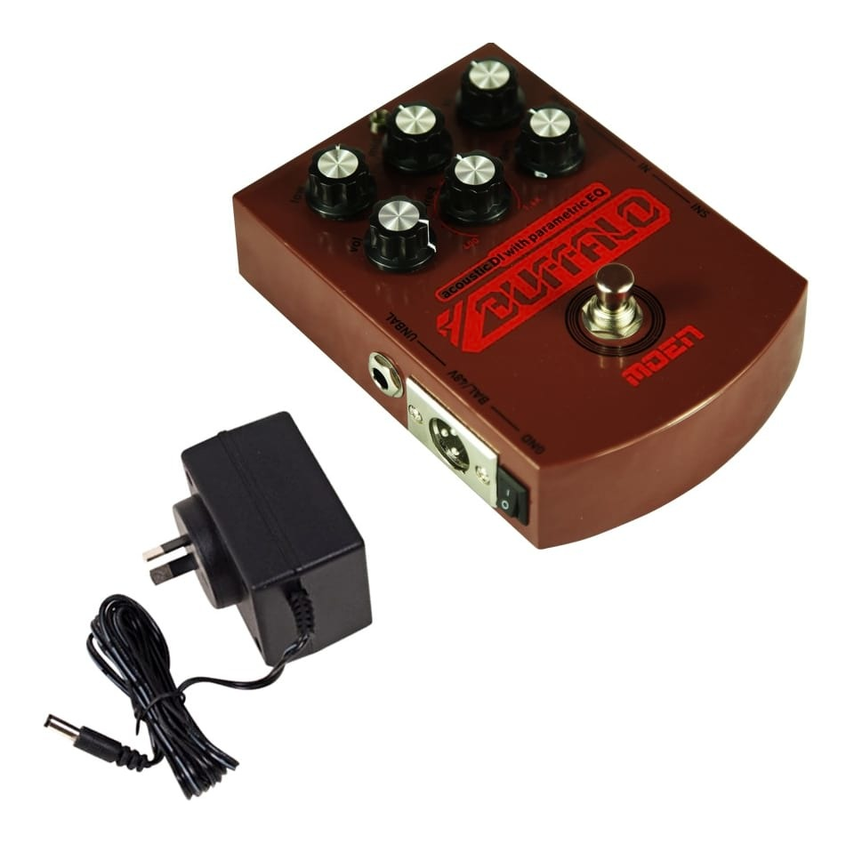MOEN AC-BA Buffalo Acoustic Guitar Preamp DI Pedal with 9V Linear Power Supply